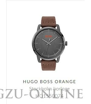 een herenhorloge Hugo Bosch Orange